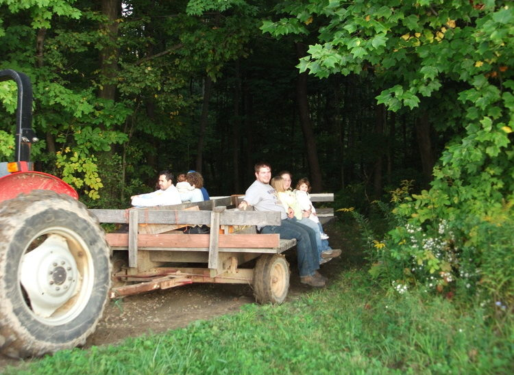 After Passing the Sugar Camp, The Hayride Moves to The Pumpkin Fields